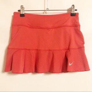 Nike Coral Pink Dri-Fit Mesh Panel Skorts